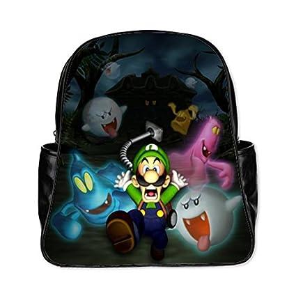 angelinana Luigi Mansion organizador mochila personalizada de estudiantes mochila escolar bolsa de viaje