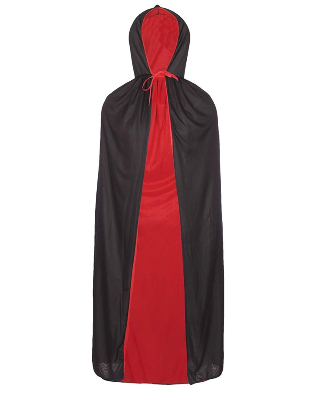 Redstar Fancy Dress Capa Reversible de Conde Dr/ácula Rojo y Negro Ideal para Halloween