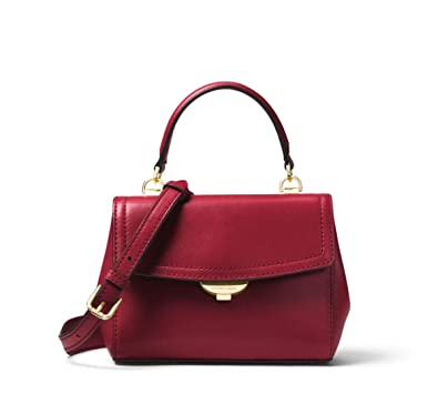 28841d6f855b MICHAEL Michael Kors Ava Extra-Small Leather Crossbody in Maroon: Handbags:  Amazon.com