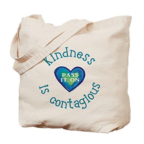 CafePress–amabilidad es contagioso–Gamuza de bolsa de lona bolsa, bolsa de la compra