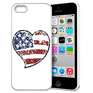 America Flag Design Pattern HD Durable Hard Plastic Case Cover for iphone 5/5s