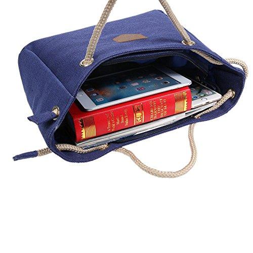 Simple Casual Large personality Handbag Bag Handbag quality Korean Hobos Fashion Blue Women Capacity FINIFLY BFWFg