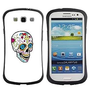 Paccase / Suave TPU GEL Caso Carcasa de Protección Funda para - Happy Skull Spring Death White Clean - Samsung Galaxy S3 I9300