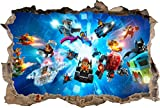 Lego Characters Ninjago Batman Smashed Wall Decal Graphic Wall Sticker Art H446, Regular Picture