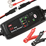 6/12V Battery Charger 4 Amp Trickle Charger Automatic Battery Charge Maintainer for Car Motorcycle Boats, Winter Mode