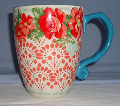 The Pioneer Woman Vintage Floral 28-Ounce Teal Jumbo Latte Mug ()