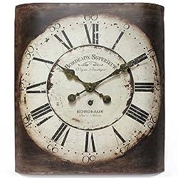 Infinity Instruments Bordeaux 19-Inch Metal Wall Clock