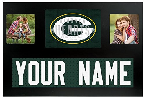 Green Bay Packers NFL Custom Jersey Nameplate and Logo Picture Frame