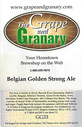 Grape and Granary Belgian Golden Strong Ale Beer Kit- For 5 US Gallons