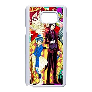 Generic for Samsung Galaxy Note 5 Cell Phone Case White Black Butler Custom 1590