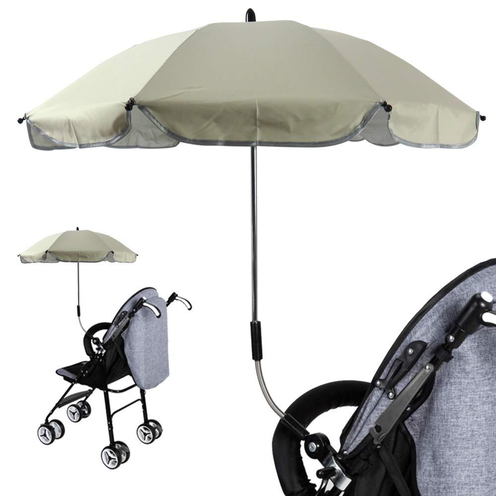 f/ür Kinderwagen Babywagen /& Buggy Zubeh/ör 57cm Universal Kinderwagenschirm Gebogen Sonnenschirm Regenschirm Sonnensegel Durchmesse 65cm UV-Schutz 50