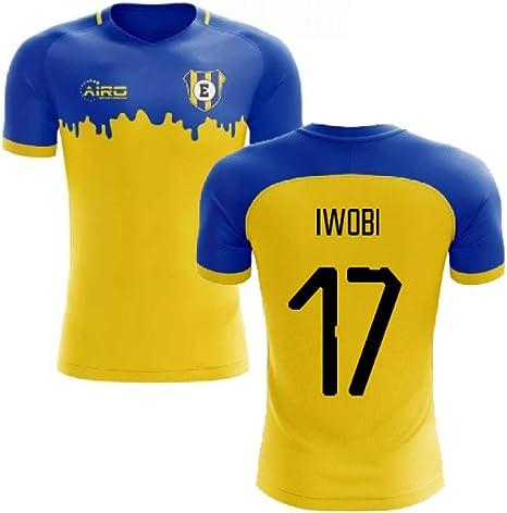 Airosportswear 2020 2021 Everton Away Concept Football Soccer T Shirt Alex Iwobi 17 Amazon Co Uk Sports Outdoors