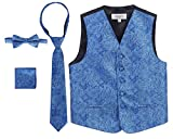 Gioberti Boy's 4 Piece Formal Paisley Vest