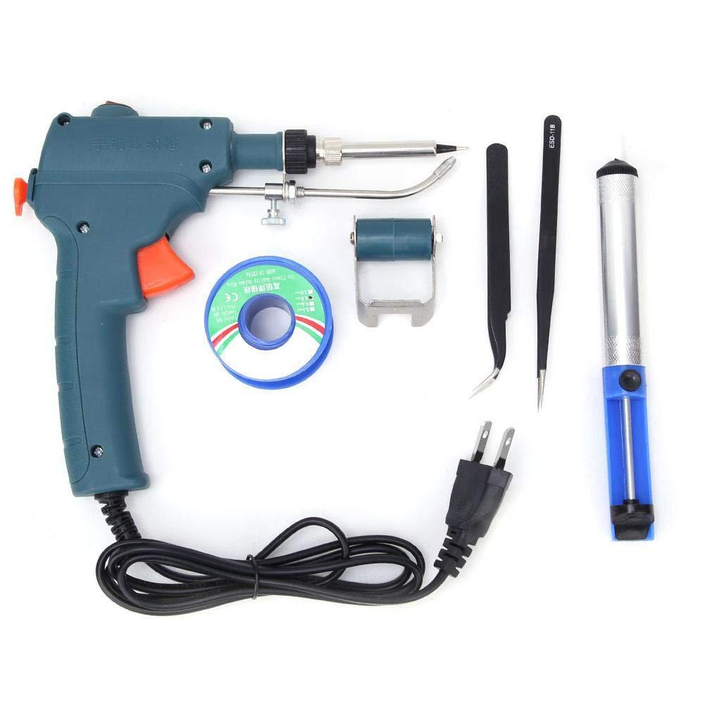 80W Handheld Auto Send Tin Soldering Iron Gun Heat Solder Tweezer Welding Tool