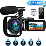 Camcorder Video Camera,Vlogging Camera for YouTube Camcorder Ultra HD 2.7K 16X Digital Zoom 3.0 Inch Touch Screen Support Pause Function & Time-Lapse (XV8)
