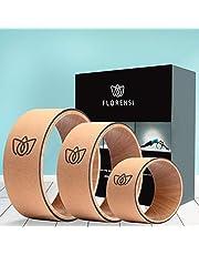 Florensi Yoga Wheel (3-Pack), Back Roller, Chirp Wheel, Back Wheel, Yoga Wheel Back Wheel, Chirp Wheel, Back Roller Foam for Back Pain, Roller Wheel, Chirp, Yoga Ring, Back Wheel for Pain Relief