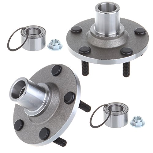 ECCPP Wheel Hub and Bearing Assembly Front 518515 fit 2001-2012 Ford Escape Mazda Tribute Mercury Mariner Replacement for 5 lugs wheel hubs no ABS -