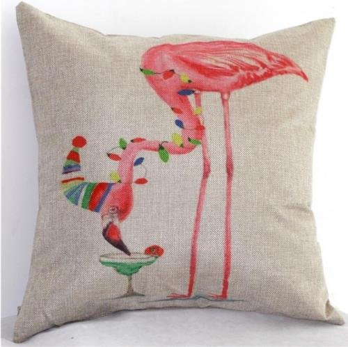 The Pecan Man Bird And Hat Cushion Cover Pillow Case 16 X16