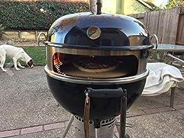 Onlyfire BRK-6023 inox pizza horno paquete completo PizzaRing para Weber 57 cm parrilla hervidor de agua y muchos otros modelos, pizza para carbón de ...