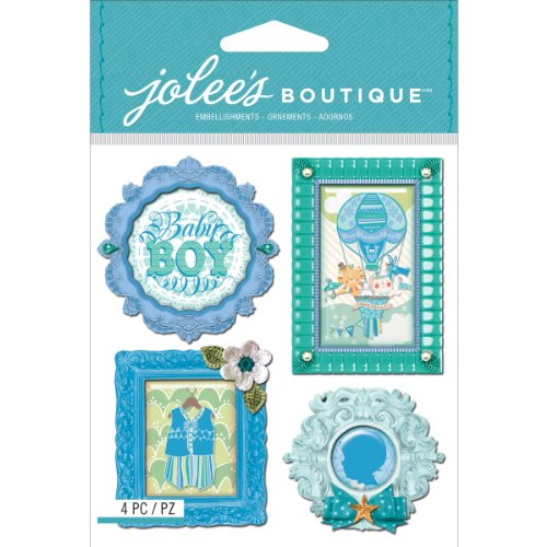 Jolee's Boutique Dimensional Stickers, Baby Boy Mini Frames