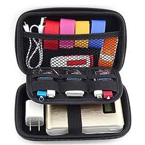 Saygoer Hard Drive Case 2.5 Inch Portable Travel Organizer Electronics Cables Accessories Organizer EVA, Black