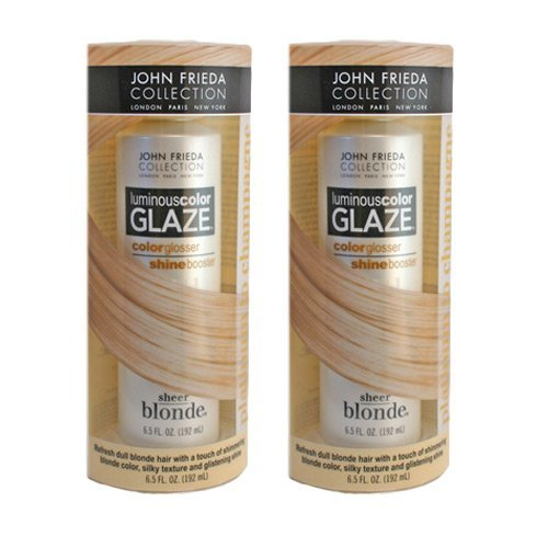 Sheer Blonde Luminous Color Glaze Platinum to Champagne 6.5 Oz. By John Frieda (Pack of 2) by John Frieda