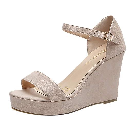 d81ebc85efc Amazon.com: Summer Suede Platform Sandals, Sharemen Elegant Wedge ...