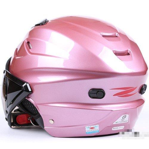 Yellow+Black Oshide Bike Scooter Motorcycle Half Helmet with Goggles Glasses Visor for Women Men