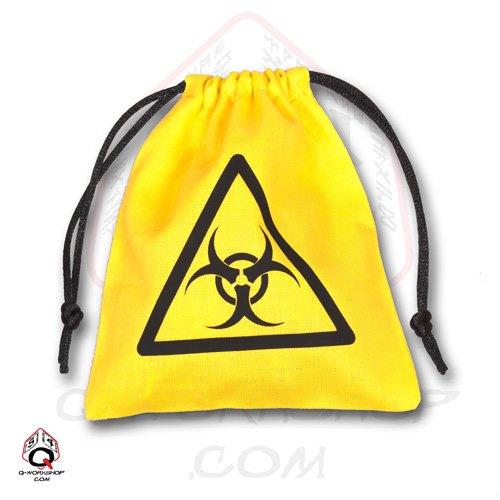 Qworkshop Biohazard Amarillo y Negro Dados Bolsa