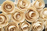 12 Handmade Wood Roses for 5 Year Anniversary, Birthday flowers, Get well soon present, Home decor