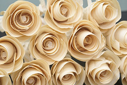 12 Handmade Wood Roses for 5 Year Anniversary, Birthday flowers, Get well soon present, Home decor by Adamz Originals