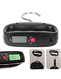 Luggage Scale Luggage Weight Scale - Pocket Portable 50kg/10g LCD Digital Electronic Hand Held Hook Belt Luggage Hanging Scale Backlight Balance Weighing - Suitcase Scale