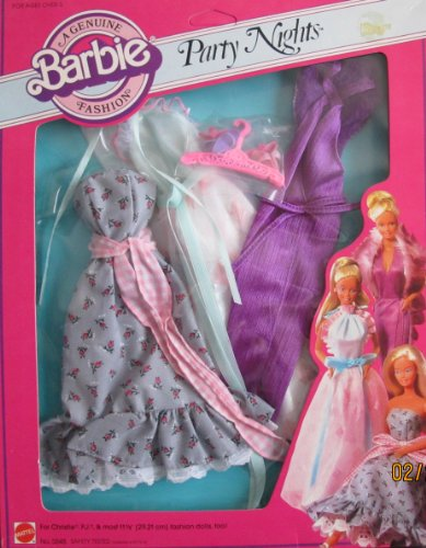 Barbie Genuine Fashions PARTY NIGHTS w 3 Gowns & More (1982 Mattel - Barbie Genuine Fashion