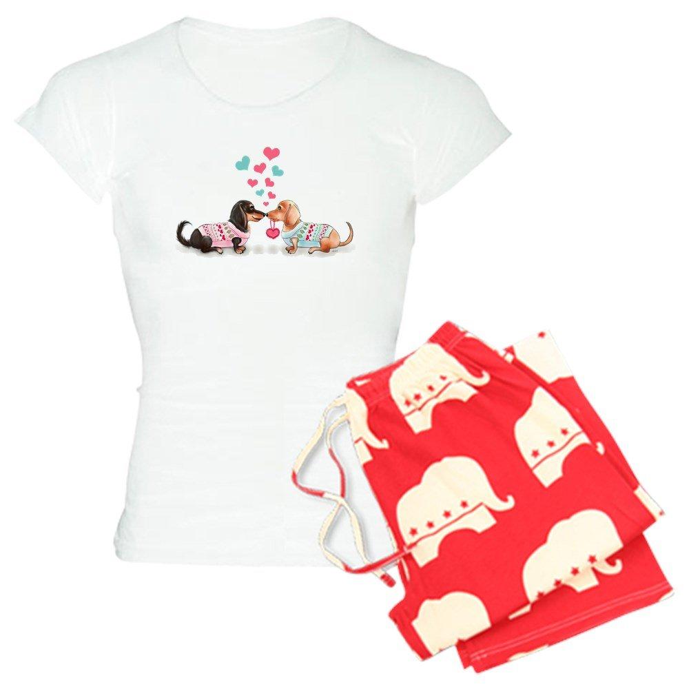 CafePress Doxie Valentine Pajamas Womens PJs