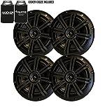Kicker Black OEM Replacement Marine 6.5'' 4 Ohm Coaxial speaker Bundle - 4 Speakers