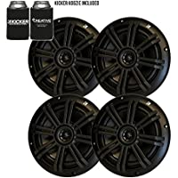 Kicker Black OEM Replacement Marine 6.5 4 Ohm Coaxial speaker Bundle - 4 Speakers