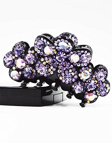 Fancyin New arrival Luxury Purple Crystal colorful rhinestones hair claw clip for women by Fancyin (Image #3)
