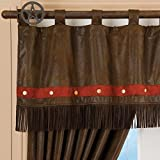 Carstens Distressed Brown Fringe Western Valance