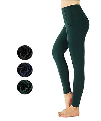New Mincc Pantalon de Sport pour Femmes Taille Haute Legging avec Poches  Yoga Mat Fitness Gym 298d50544cc