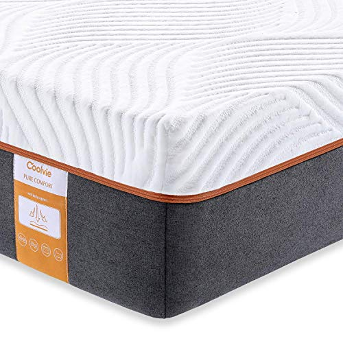 Full Mattress, Coolvie 10 Inch Memory Foam and Innerspring Hybrid Mattress in a Box, Individually Pocket Spring with Multi Layer Comfy Cool Memory Foam, CertiPUR-US Certified, No-Risk 100 Night Trial (Box Cushion Corners Sewing)