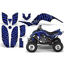CreatorX Yamaha Raptor 660 Graphics Kit Decals Stickers Zebra Camo Blue
