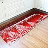 Startview Christmas Floor Mats, Christmas Santa Sleigh Anti-skid Water Absorption Area Rug - W24 Inch L71 Inch (A)