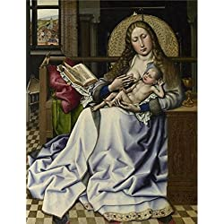 Perfect Effect Canvas ,the Amazing Art Decorative Prints On Canvas Of Oil Painting 'Follower Of Robert Campin - The Virgin And Child Before A Firescreen,about 1440', 16x21 Inch / 41x53 Cm Is Best For Bedroom Gallery Art And Home Decoration And Gifts