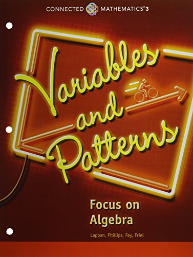 CONNECTED MATHEMATICS 3 STUDENT EDITION GRADE 6 VARIABLES AND PATTERNS  COPYRIGHT 2014