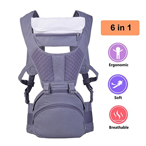 Cheap Ergonomic Cotton Baby Carrier Backpack with Hip Seat Suit for Infant Toddler in All Season,The Perfect Newborn Baby Gift with Giftbox