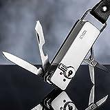 ECVISION Lighter Multifunction Zinc Alloy Lighter Gas Cigarette Lighter 5-in 1 Multi-tool Lighter/Knife/Bottle Opener/Scissors/Nail File