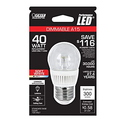 Feit Electric BPA15/CL/DM/LED A15 Dimmable LED