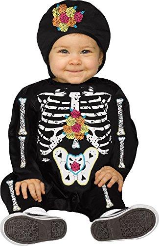 Day of the Dead Baby Bones Skeleton Infant Costume (Day Of The Dead Baby Costume)