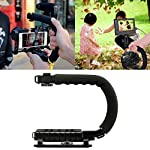 Generic Universal Stabilizer C-Shape Bracket Video Handheld Grip For DSLR DV Camera (Black) 3
