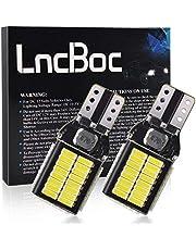 LncBoc W16W 921 T15 912 LED Bulb1600 lumen 12V-24V Extreem Heldere Niet-Polariteit Canbus Foutvrij 6500 K 4014 54SMD Chipsets voor Auto Backup Parkeerlicht Staart Reverse Lichten (Xenon Wit, 2 stks)